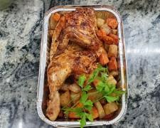 Pollo asado con patatas